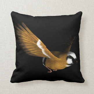 Beautiful bird flying throw pillow
