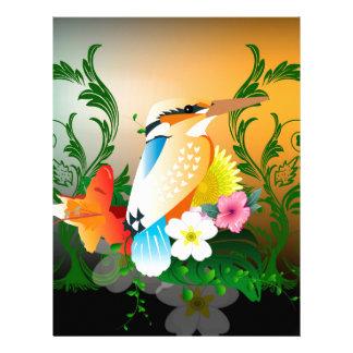 Beautiful bird custom letterhead