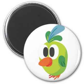 beautiful bird walking 2 inch round magnet