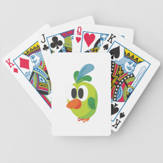 beautiful bird walking bicycle playing cards