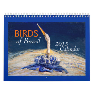 "Beautiful ""BIRDS of Brazil"" 2013 Calendar"