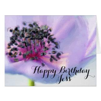 Beautiful Birthday Flower Close-up Pastel Drawing Card