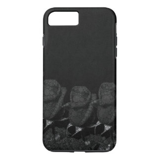 Beautiful Black Abstract Roses iPhone 7 Plus Case
