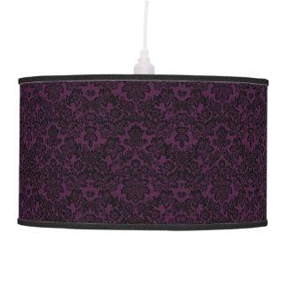 Beautiful black and purple vintage fleur lamp