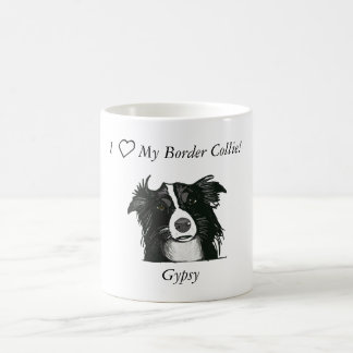 Beautiful Black and White Border Collie Coffee Mug