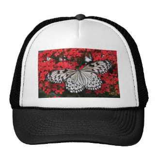 Beautiful black and white Butterfly Trucker Hat