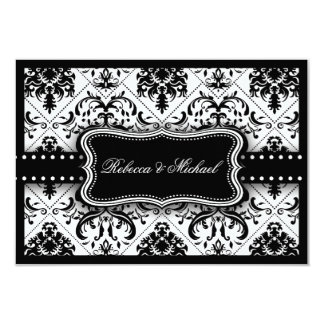 Beautiful Black and White Vintage Damask Card