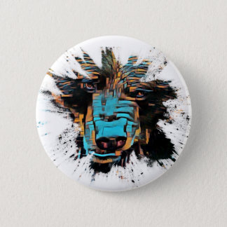 Beautiful Black Bear 2 Inch Round Button
