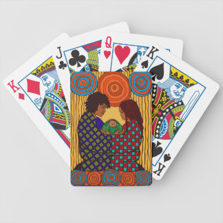 Beautiful Black Family Bicycle Playing Cards