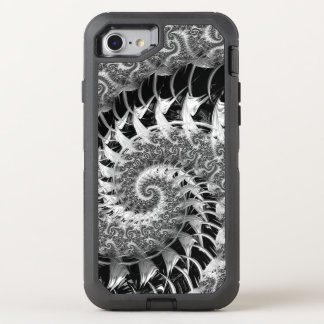 Beautiful Black Fractal OtterBox Defender iPhone 8/7 Case