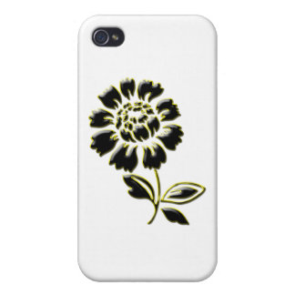 Beautiful Black Gold Peony iPhone 4/4S Case