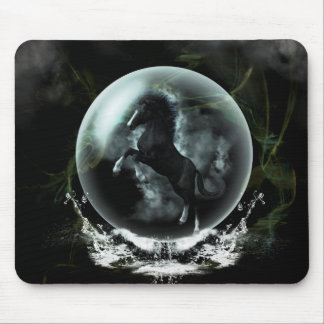 Beautiful black horse mouse pad