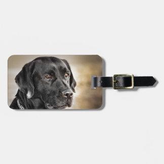 Beautiful Black Labrador Retriever dog design Luggage Tag