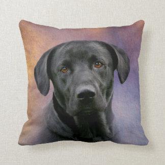 Beautiful Black Labrador Retriever Throw Pillow