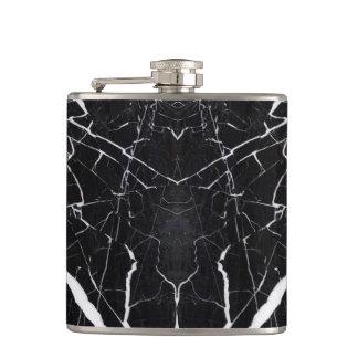 Beautiful black marble hip flask