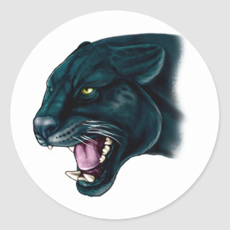 Beautiful Black Panther Classic Round Sticker