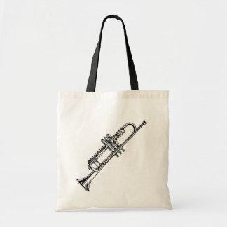 Beautiful Black & White Cornet Musical Instrument