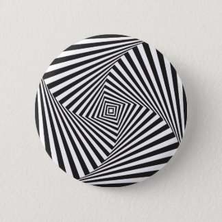 Beautiful Black white spiral optical illusion 2 Inch Round Button