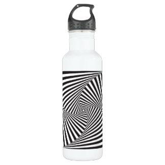 Beautiful Black white spiral optical illusion 710 Ml Water Bottle