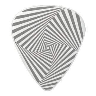 Beautiful Black white spiral optical illusion Acetal Guitar Pick