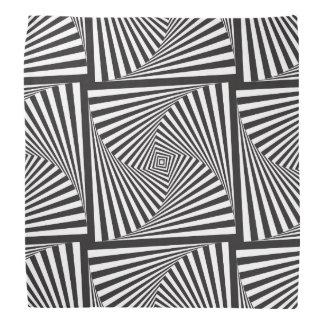 Beautiful Black white spiral optical illusion Bandana
