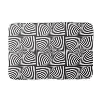 Beautiful Black white spiral optical illusion Bath Mat
