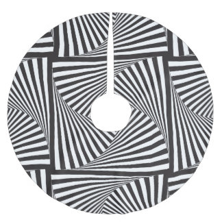 Beautiful Black white spiral optical illusion Brushed Polyester Tree Skirt
