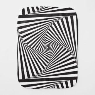 Beautiful Black white spiral optical illusion Burp Cloth