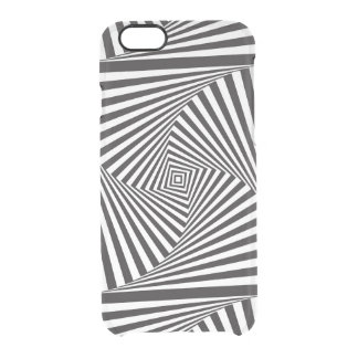 Beautiful Black white spiral optical illusion Clear iPhone 6/6S Case