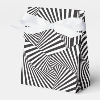 Beautiful Black white spiral optical illusion Favor Box