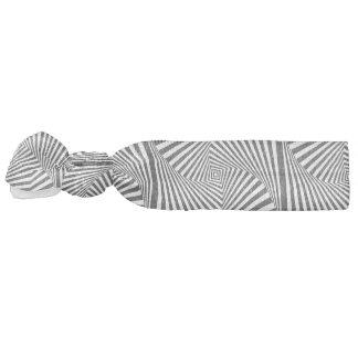 Beautiful Black white spiral optical illusion Hair Tie