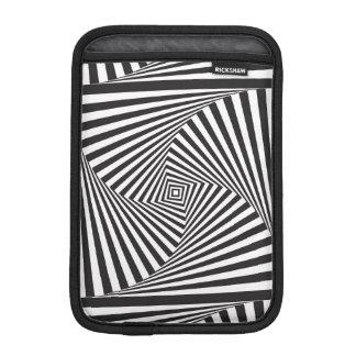 Beautiful Black white spiral optical illusion iPad Mini Sleeve