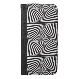 Beautiful Black white spiral optical illusion iPhone 6/6s Plus Wallet Case