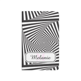 Beautiful Black white spiral optical illusion Journal