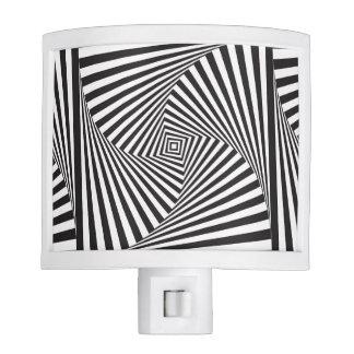 Beautiful Black white spiral optical illusion Night Lite