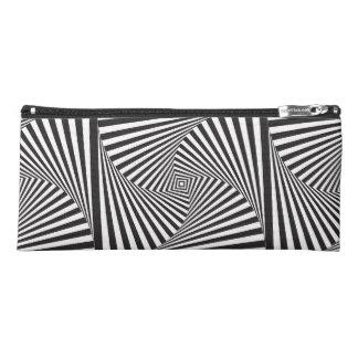 Beautiful Black white spiral optical illusion Pencil Case