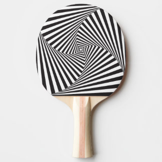 Beautiful Black white spiral optical illusion Ping Pong Paddle