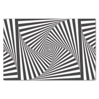 Beautiful Black white spiral optical illusion Tissue Paper