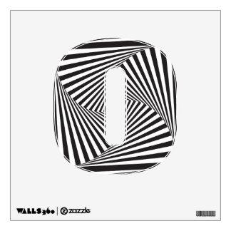 Beautiful Black white spiral optical illusion Wall Decal