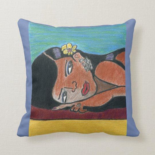 Beautiful Black Woman Pillow