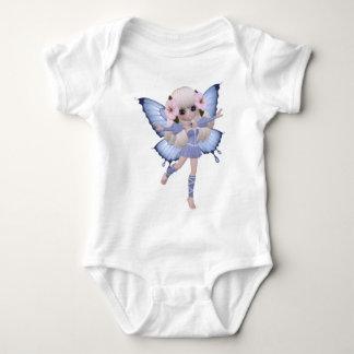 Beautiful Blond Fairy Girl Baby Bodysuit