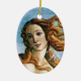beautiful blonde oil ceramic ornament