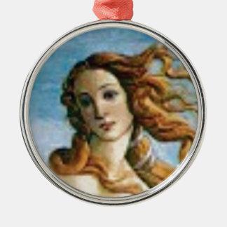 beautiful blonde oil metal ornament