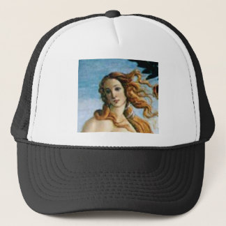 beautiful blonde oil trucker hat