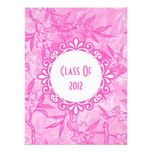 Beautiful Blooms In Pink Personalized Announcement