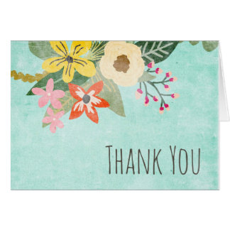 Beautiful Blooms Thank You Note Card