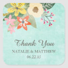 Beautiful Blooms Wedding Thank You Favour Stickers