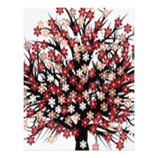 Beautiful blossom tree design custom letterhead