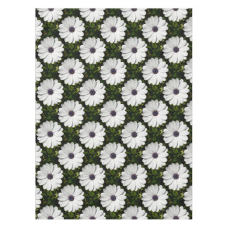 Beautiful Blossoming White Osteospermum Tablecloth