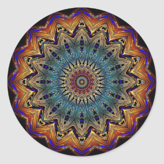 Beautiful Blue and Copper Mandala Sticker